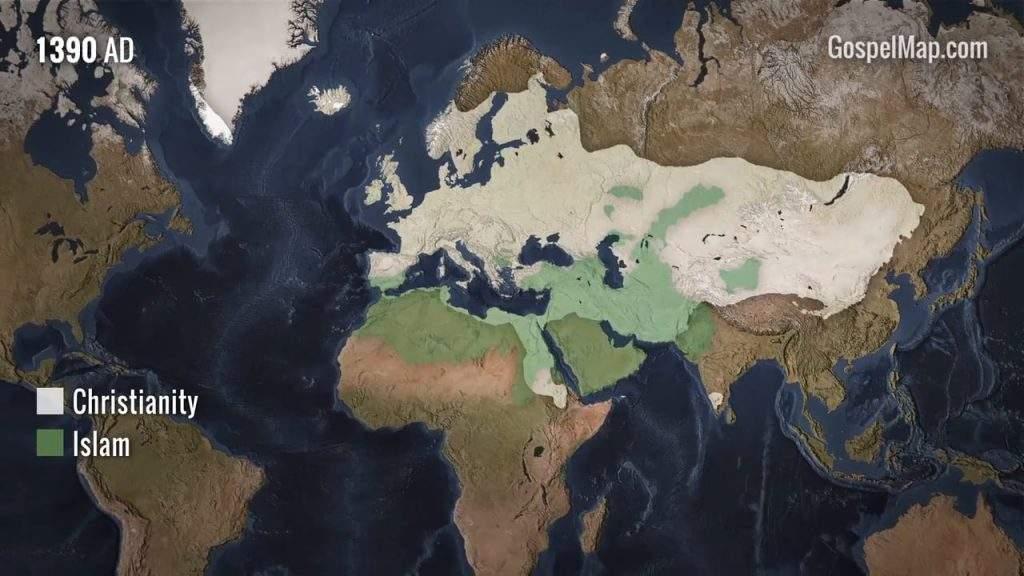Increíble mapa animado de cómo se han extendido las religiones en los últimos 2000 años 6