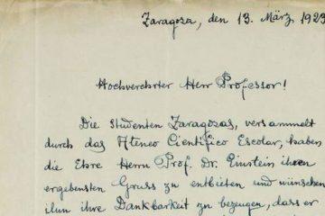 España ayudando a la ciencia alemana: carta de los alumnos de la Universidad de Zaragoza a Einstein 14