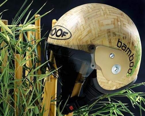 Roof se dedicada a la fabricación de cascos de bambú para motocicletas
