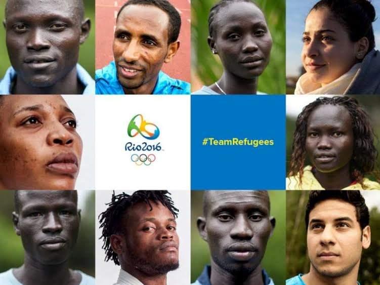 Imagen de los 10 integrantes del equipo olímpico de refugiados