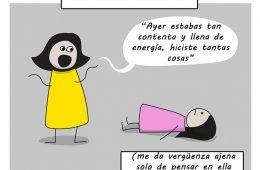 Un cómic ilustra la pesada carga que es vivir con ansiedad y depresión 4