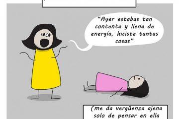 Un cómic ilustra la pesada carga que es vivir con ansiedad y depresión 24