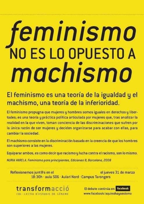 ¿Qué es el feminismo? Autor: Transformacció