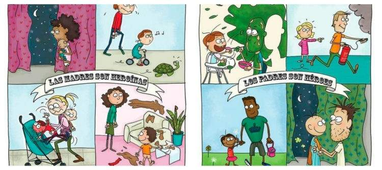 Por si alguien dudaba, este cómic te recuerda que los padres y madres son superhéroes... del humor 2