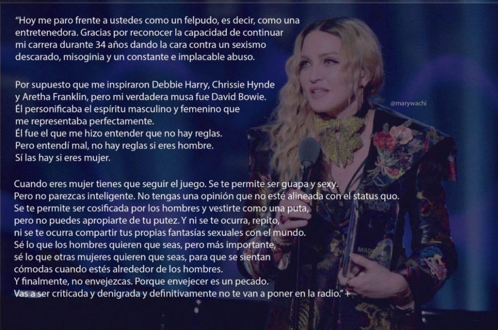 El último discurso de Madonna incendia las redes: la 'mala feminista' apuesta por la sororidad 1