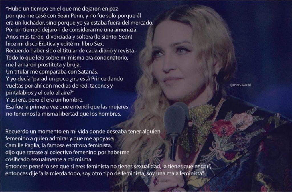 El último discurso de Madonna incendia las redes: la 'mala feminista' apuesta por la sororidad 2