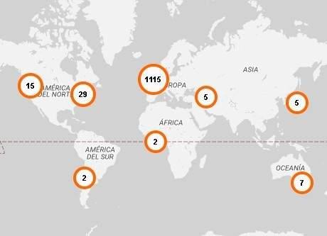 Actualmente, hay 29 países, repartidos por los seis continentes, con un Repair Café. Fuente: https://repaircafe.org
