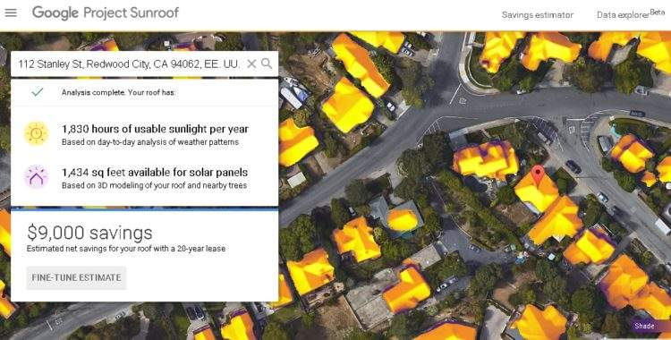 Project Sunroof de Google
