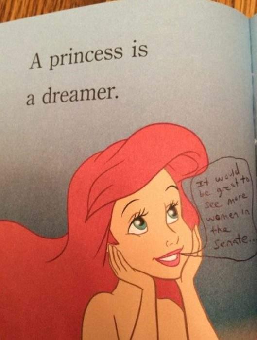 Un madre añade notas en los cuentos de Disney de su hija para hacerlos más feministas 2