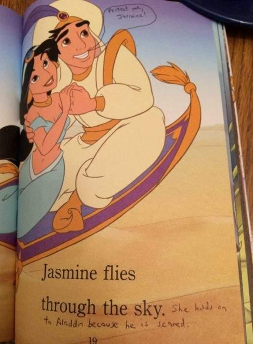 Un madre añade notas en los cuentos de Disney de su hija para hacerlos más feministas 1