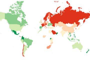 Este es el mapa de los mejores países para hacer amigos 10