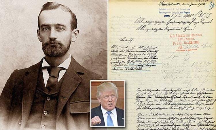 Se hace viral la carta del abuelo alemán de Trump donde rogaba que no lo deportasen 4