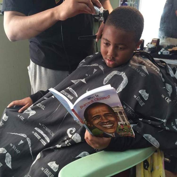 Inspiradora iniciativa de una peluquería que hace descuento a los niños que hacen esto 5
