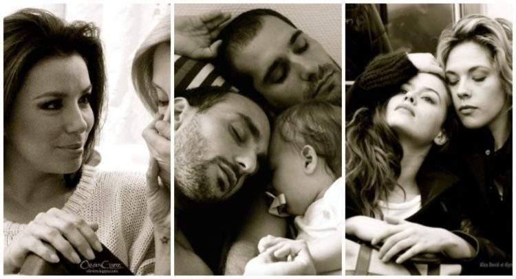 Emotivas fotografías de parejas de famosos creadas por Ciappa en su lucha contra la homofobia 2