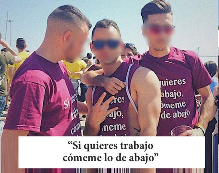 Camisetas de fiestas universitarias de Valencia: desde el machismo a la apología de la violación 4