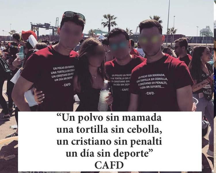 Camisetas de fiestas universitarias de Valencia: desde el machismo a la apología de la violación 5