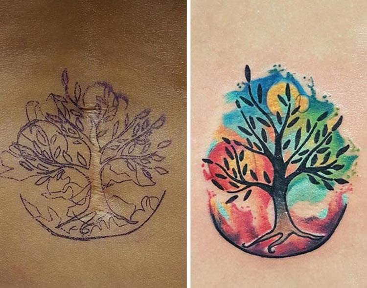 Las soluciones más divertidas para transformar una cicatriz en un original tatuaje 3