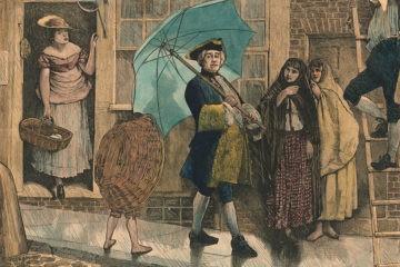 """La historia de la vergüenza pública que sufrió el primer usuario de un paraguas por """"afeminado"""" 8"""