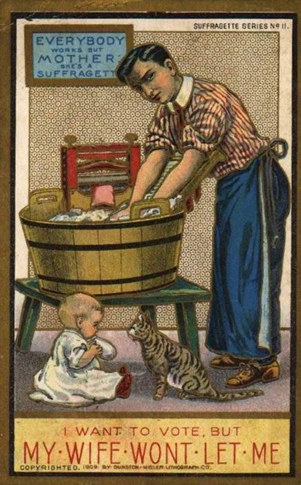 """Estas postales propagandísticas de principios del siglo XX muestran lo """"peligrosos"""" que eran los derechos de las mujeres 10"""