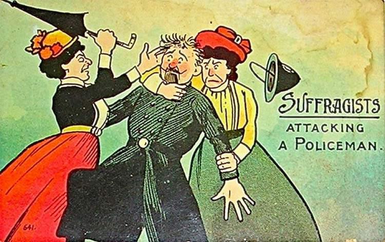 """Estas postales propagandísticas de principios del siglo XX muestran lo """"peligrosos"""" que eran los derechos de las mujeres 13"""