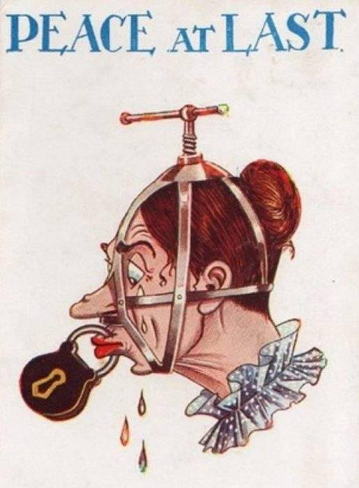 """Estas postales propagandísticas de principios del siglo XX muestran lo """"peligrosos"""" que eran los derechos de las mujeres 3"""