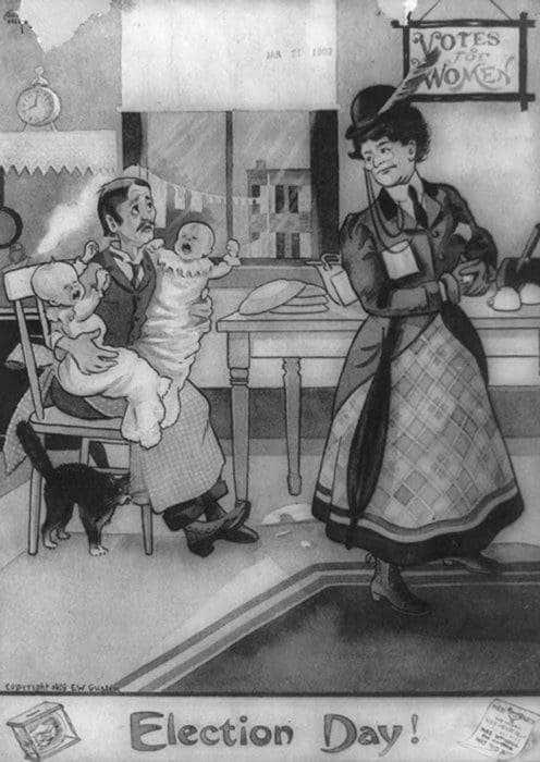 """Estas postales propagandísticas de principios del siglo XX muestran lo """"peligrosos"""" que eran los derechos de las mujeres 4"""