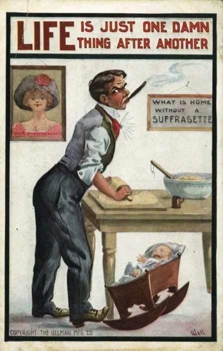 """Estas postales propagandísticas de principios del siglo XX muestran lo """"peligrosos"""" que eran los derechos de las mujeres 6"""