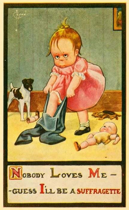 """Estas postales propagandísticas de principios del siglo XX muestran lo """"peligrosos"""" que eran los derechos de las mujeres 16"""