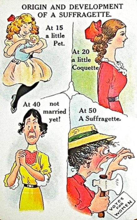 """Estas postales propagandísticas de principios del siglo XX muestran lo """"peligrosos"""" que eran los derechos de las mujeres 1"""