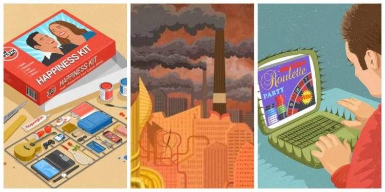 Un repaso a la realidad más satírica a través de las 10 mejores ilustraciones de John Holcroft 1