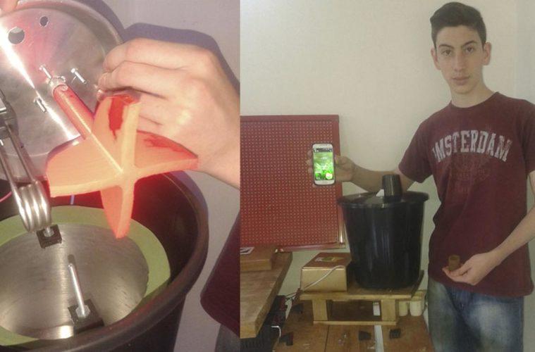 Con solo 18 años creó una máquina que produce vasos biodegradables 2