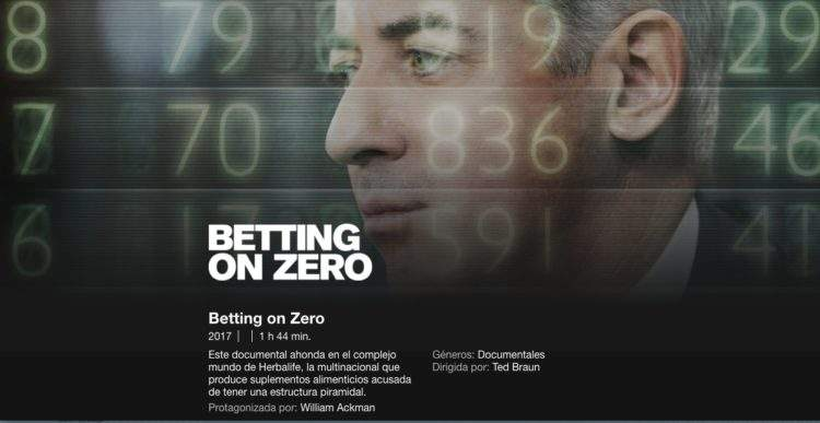 """Betting on Zero"": el documental de Netflix que acusa a Herbalife de ser una estafa 1"