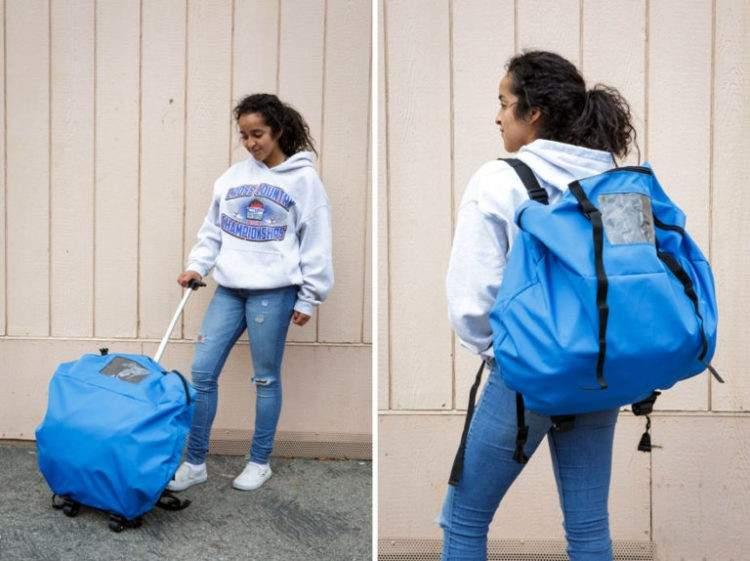 Unas adolescentes diseñan una increíble tienda de campaña para personas sin hogar 7