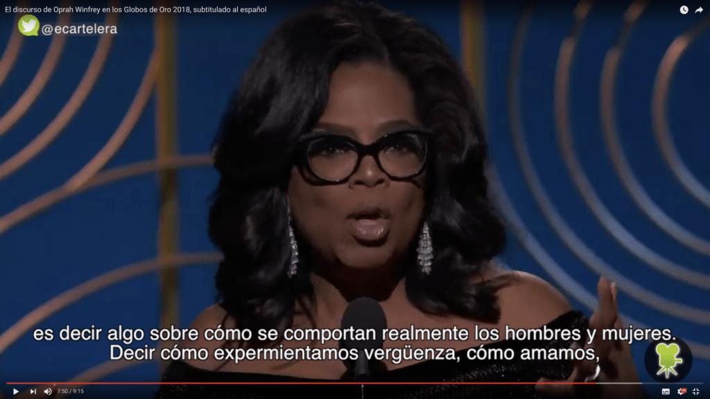 Traducimos el inspirador y valiente discurso de Oprah Winfrey 5