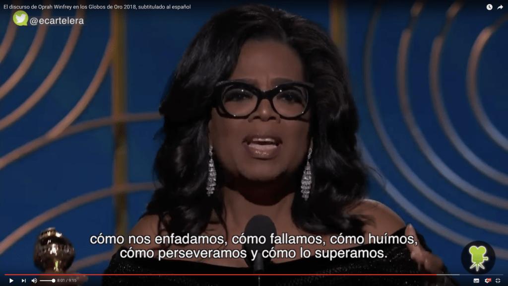 Traducimos el inspirador y valiente discurso de Oprah Winfrey 6