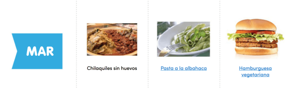 Aquí puedes ver un menú completo, sencillo y vegano para comer sano toda la semana 3