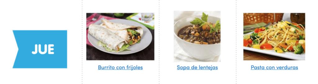 Aquí puedes ver un menú completo, sencillo y vegano para comer sano toda la semana 5