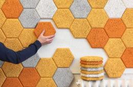 """Innovadores azulejos sostenibles hechos de """"lana de madera"""" y que absorben el ruido de las paredes 2"""