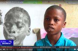 El artista nigeriano de 11 años que está sorprendiendo al mundo con su arte 4