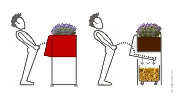 Uritrottoir: urinarios públicos parisinos para evitar orinar en las calles (y abonar las plantas) 4