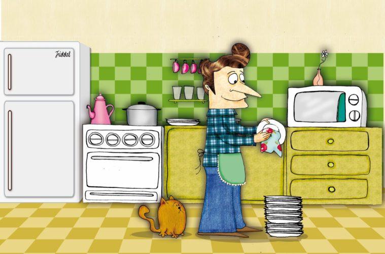 Un necesario cuento que a través del humor invita a repartirse las tareas del hogar 2
