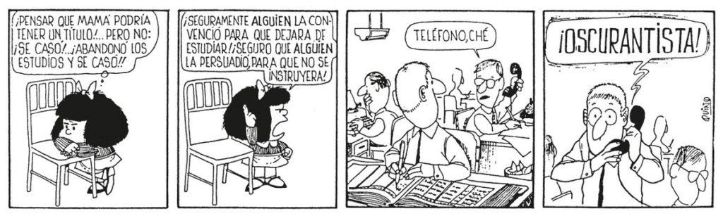 Publican una edición especial con las mejores tiras feministas de Mafalda 5