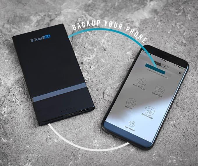 GOSPACE: el dispositivo de carga y almacenamiento Qi que puede actuar como un punto de acceso wifi 5G 5