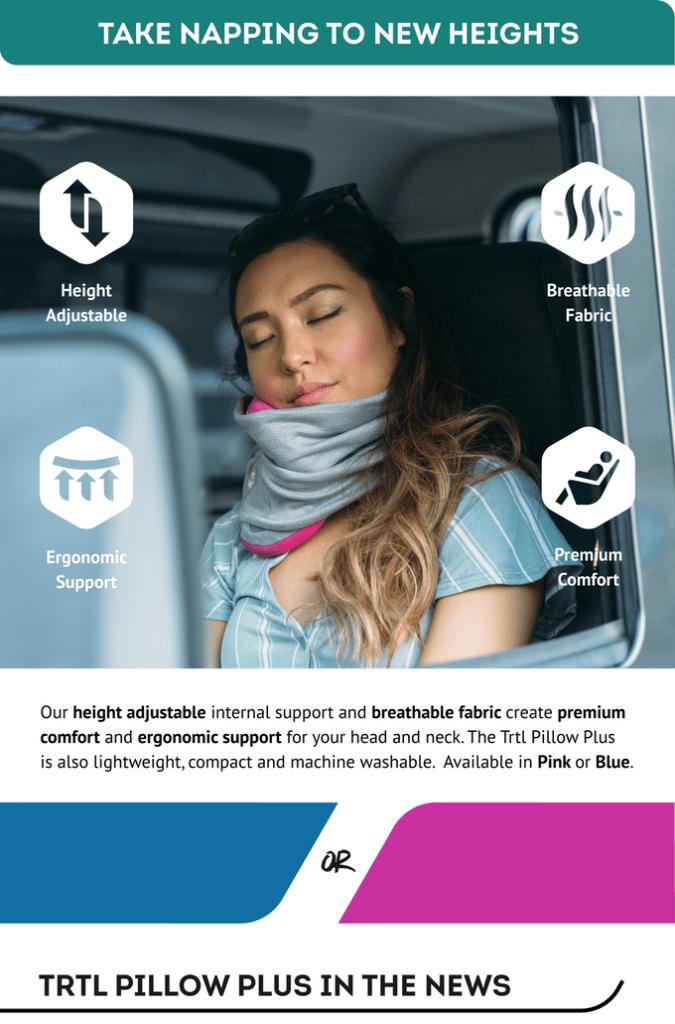 Por fin: tu cuello a salvo en los viajes gracias a la primera almohada totalmente ajustable 1