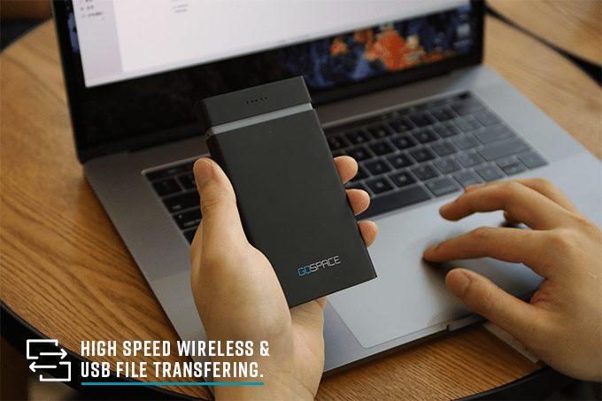 GOSPACE: el dispositivo de carga y almacenamiento Qi que puede actuar como un punto de acceso wifi 5G 1