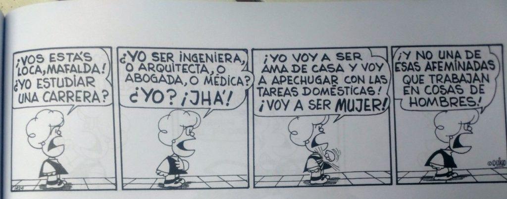 Publican una edición especial con las mejores tiras feministas de Mafalda 4
