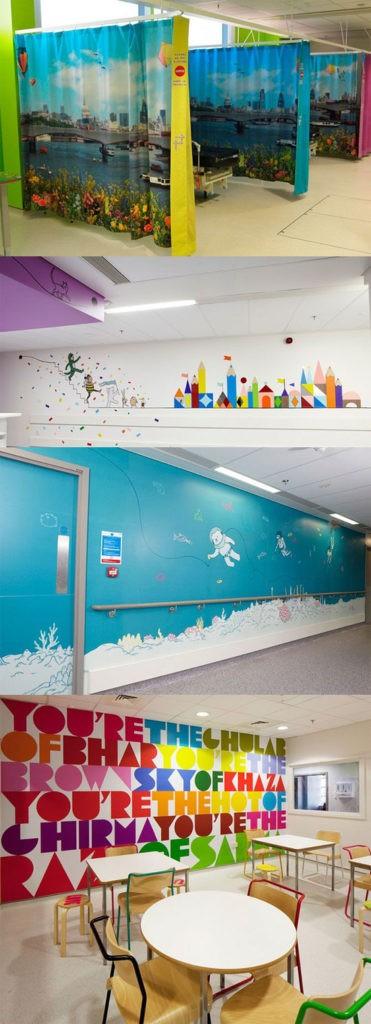 Estudiantes de Bellas Artes pintan el Área de Oncología Infantil del Hospital General Universitario de Alicante 7