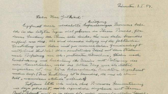 Se revela la visión de Dios de Einstein en una carta ¡subastada por 2,9 millones de dólares! 2