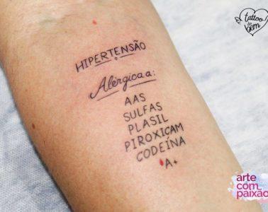 ¿Has oído hablar de tatuajes del bien? Hacen alertas importantes sobre la salud y pueden salvar vidas! 4