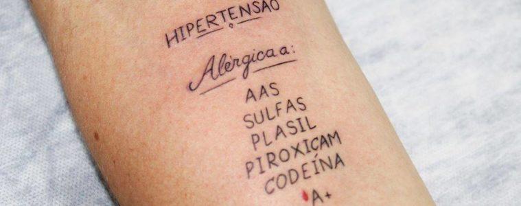 ¿Has oído hablar de tatuajes del bien? Hacen alertas importantes sobre la salud y pueden salvar vidas! 18